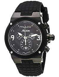 MULCO Unisex MW3-12140-025 Ilusion Analog Display Swiss Quartz Black Watch