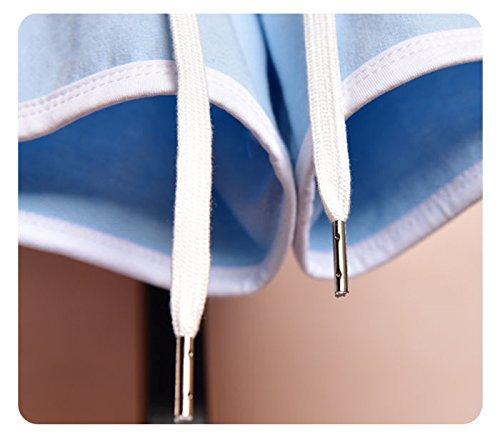 YueLian Estivo blu Corti per Pantaloncini Sportivo Abbigliamento Donna qOxdwrqf7