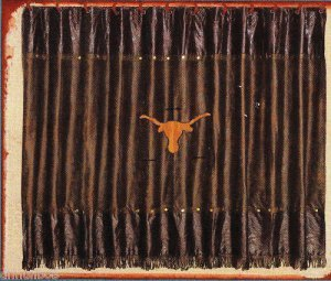 Merveilleux Western Longhorn With Barbwire Shower Curtain
