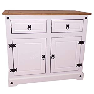 Mercers Furniture Corona White 2 Door Sideboard