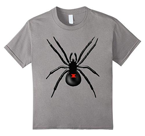 Black Widow Couples Costumes (Kids Black Widow Spider Halloween Costume T-Shirt 12 Slate)