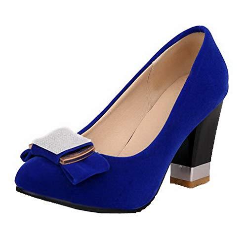 femminile a tinta tacco blu alto tacco unita con sintetico tacco altoTsmdh003047 Scarpe spillo a 3Lq54ARj