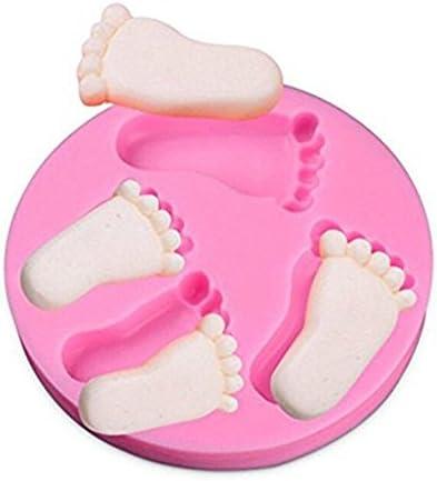 Kumkey Silikon Kuchen Formen Baby Füße Förmigen Backform DIY Kuchenform Dekorieren Silikon Antihaft Kuchen Fondant Dekorieren Backen Formen für Eiswürfel, Süßigkeiten, Schokolade