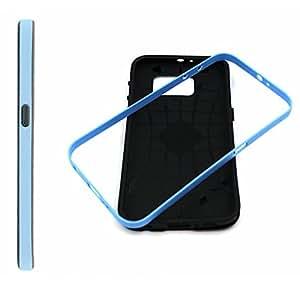 Blancas nubes gráfico de niña, moda 2 en 1 híbrido parachoques con TPU suave silicona caso cubrir para Samsung Galaxy S6 funda