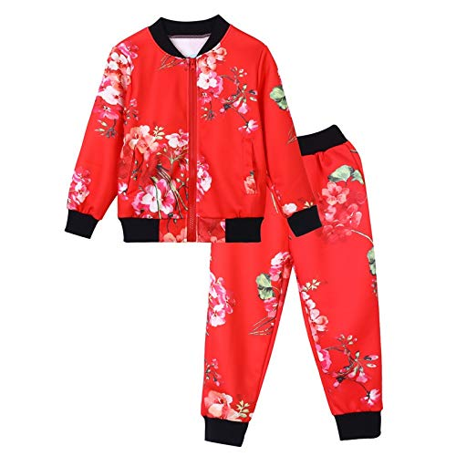 SMALLE ◕‿◕ Clearance,Kids Baby Girls Boys Clothes Set Floral Print Zipper Tops Coat Pants Outfits by SMALLE (Image #1)