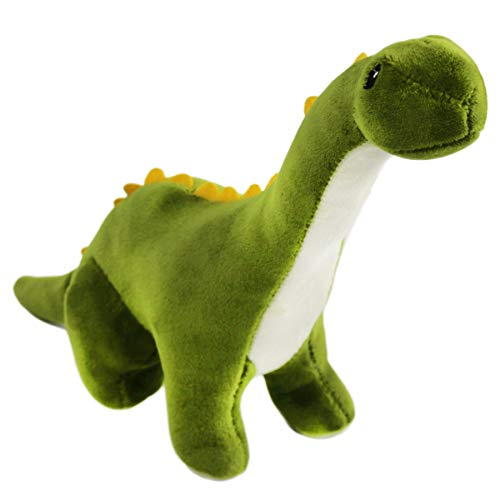 Athoinsu Green Stuffed Dinosaur Brontosaurus Plush Toys Creative Jurassic Home Decor Kids' Gifts for Birthday Christmas, 11 inches (Plush Dinosaur Brontosaurus)
