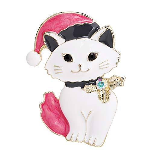 - VVANT Brooch for Women Lovely Cat Brooch Pin,Vintage Gifts for Birthday/Mother's Day/Daily (Cat White)