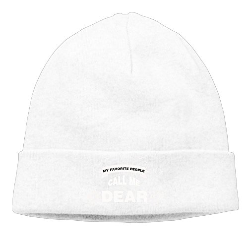 Unisex My Favorite People Call Me Dear Fashion Caps White