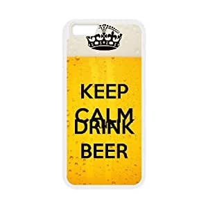 Keep Calm Drink Beer iPhone 6 Plus 5.5 Inch Cell Phone Case White JU0038896