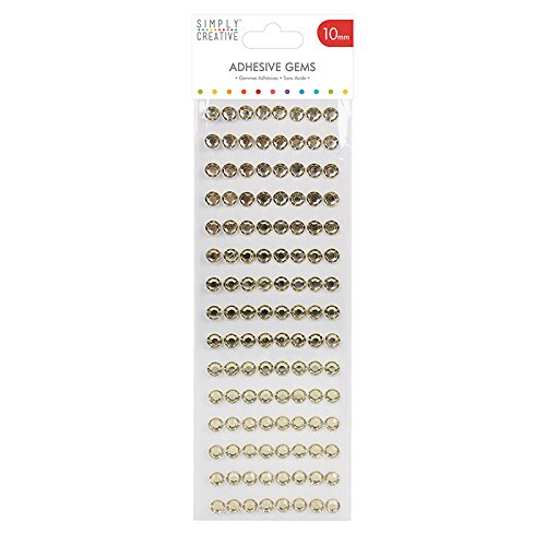 Simply Creative Plastic Gems - Gold (10 mm) Trimcraft SCDOT016