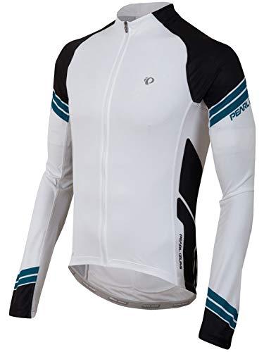 (Pearl Izumi Men's Elite Long Sleeve Jersey, White/Black, XX-Large )