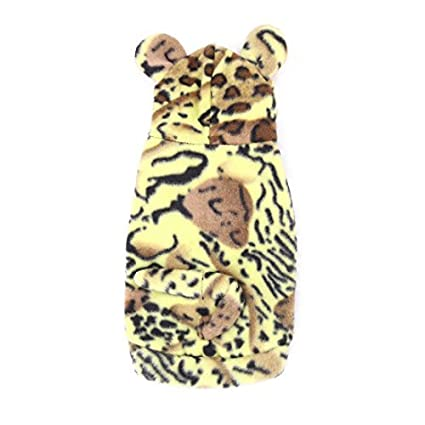 eDealMax Mezclas de algodón Tigre Modelo de la piel del perro casero perrito ropa de Abrigo