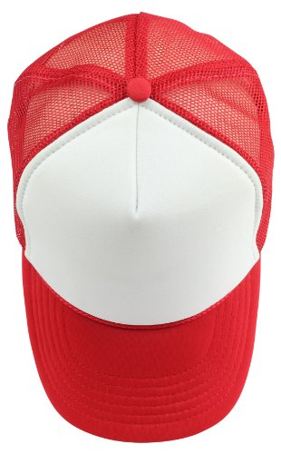 de0d478cdc6 Kids Trucker Cap Youth Hat in Red and White - Import It All