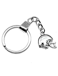 WYSIWYG 3 Pieces Key Chain Women Key Rings Fashion Keychains For Men Football Helmet Sports Helmet 19x17mm