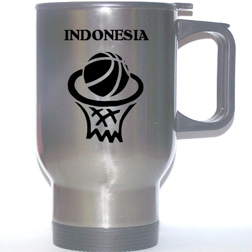 Indonesian Basketball Stainless Steel Mug - Indonesia by Custom Image Factory