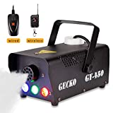 Fog Machine,GECKO Smoke Machine hood portable LED light with wired and wireless remote