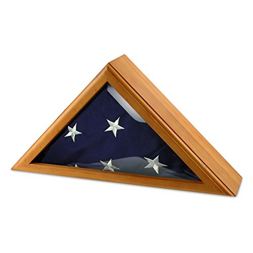 US Flag Store Cadet III Flag Display Case for 5ft x 9.5ft Flag - Oak Case Only