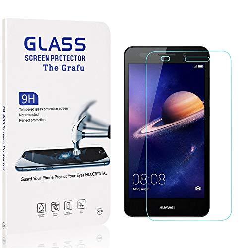 The Grafu Displayschutzfolie Kompatibel mit Huawei Y3 2017, 9H Härte, Blasenfrei, Anti Kratzen Schutzfolie aus Gehärtetem Glas für Huawei Y3 2017, 4 Stück