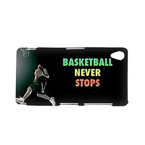 Generic Men Plastics Printed Basketball Never Stops For Sony Z3 Phone Shell Funny