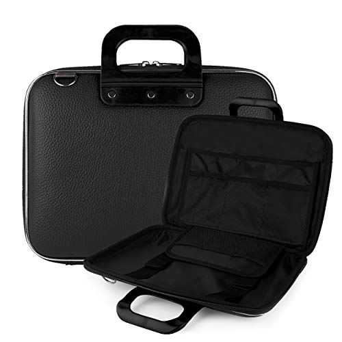 "Vegan Leather Transit Carrier [Black] with Optional Shoulder Strap for 9"" to 10.5"" Portable DVD Players -  Best Price Center, AS_NBKLEA542_PRTDVD"