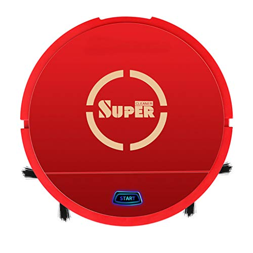 Tpingfe Robot Vacuum Cleaner Sweeping and Mopping Robotic Vacuum Cleaning Dust and Pet Hair, Strong Suction, Route Planning on Hard Floor, Carpet and All Floor Types (Red)