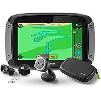 """TomTom Rider 410 Fixé 4.3"""" Écran tactile 280g Noir, Gris, Argent - navigateurs (Interne, 480 x 272 pixels, 16:9, Flash, MicroSD (TransFlash), Fixé)"""