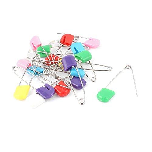 20pcs Cabea de pano plstico fralda Fralda Safety Pins cores sortidas