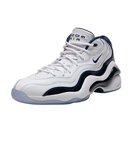 28f297ea043a Galleon - Nike AIR Zoom Flight 96 Mens Basketball-Shoes 884491-103 8.5 -  White Midnight Navy-Metallic Gold-White
