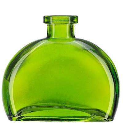 Courtney's Candles Lime Green 6 Ounce Figi Glass Vase