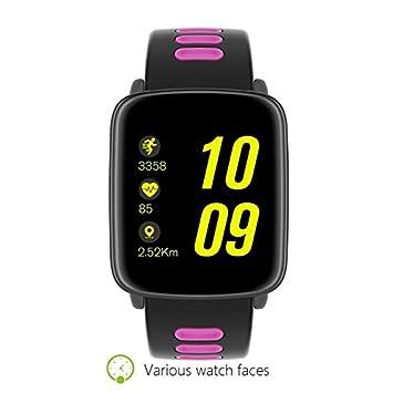 Wewoo Montre connectée Rose Bracelet Intelligent de Bluetooth décran Tactile, IP68 imperméable à