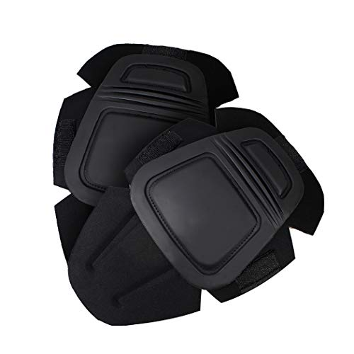 IDOGEAR G3 Combat Knee Pads Tactical Protective Knee Pads for Military Airsoft Hunting Pants (Black)