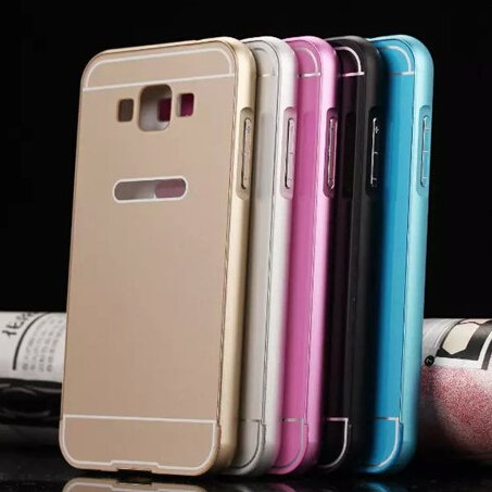 innovative design 170bb 6a0c6 Samsung Galaxy Grand Max SM-G7200-Luxury Aluminum Frame With Acrylic Back  Bumper Case Cover (Gold)