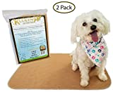Kluein Pet Washable Dog Pee Pads, Absorbent Waterproof Reusable Puppy Pads, 2-Pack 18 x 24 inch, Pet Food Mat, Dog Crate Mat, Cat Mat, Potty Training, Travel