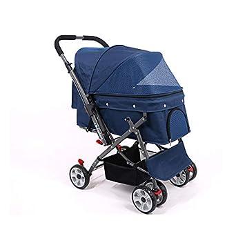 Carrito para mascotas, Carrito de viaje para mascotas Tres ruedas Carrito para silla de paseo