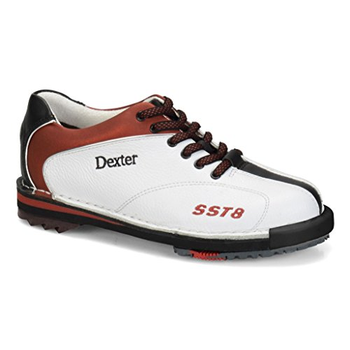 Dexter Womens SST 8 LE Bowling Shoes- White/Red/Black (8 M US, (Left Hand Bowling Shoes)