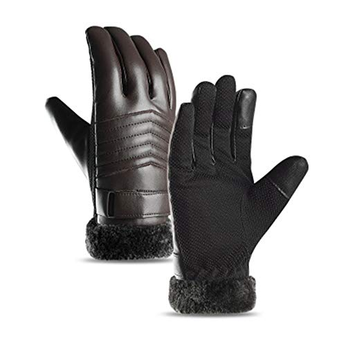 Super explosion Cycling Gloves Men Women Winter Waterproof Anti-Slip Warm Gloves, Suitable Indoor Outdoor Sports, Driving, Skiing, Mountain Bike Riding(Coffee2 One Size)