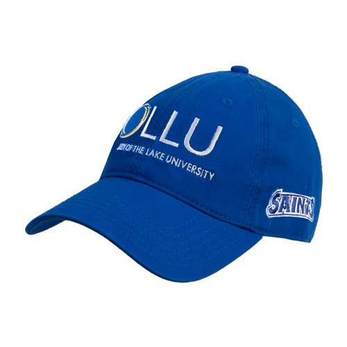OLLU Royal Twill Unstructured Low Profile Hat 'OLLU Our Lady of the Lake University Stacked' by CollegeFanGear