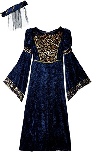 Fun World Renaissance Maiden Kids Costume Blue