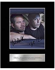 Foto enmarcada y firmada de Paul Walker y Vin Diesel, Fast and Furious