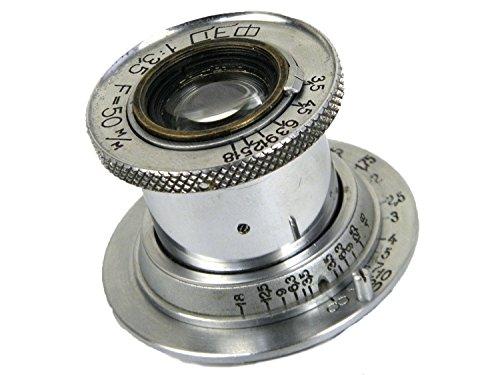 FED INDUSTAR-10 50mm/f3 5 on FED2沈胴式レンズ Lマウント