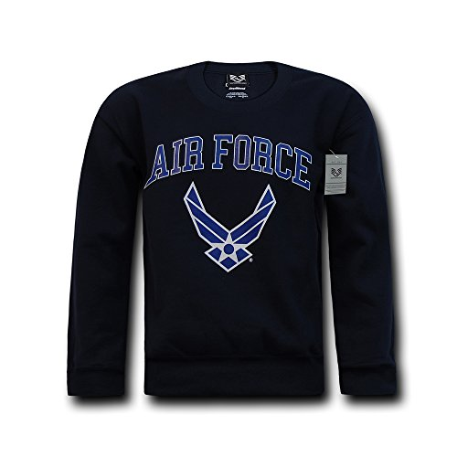 Rapiddominance Air Force Crewneck Sweatshirt, Navy, - Force Air Sweatshirt Crewneck