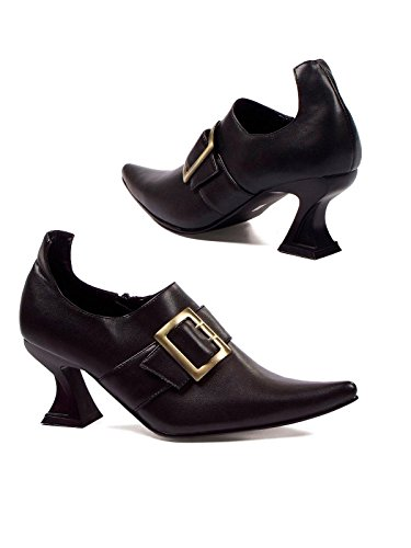 Ellie Shoes Women's 301 Hazel Witch Shoe, Black Polyurethane, 7 M US for $<!--$20.04-->