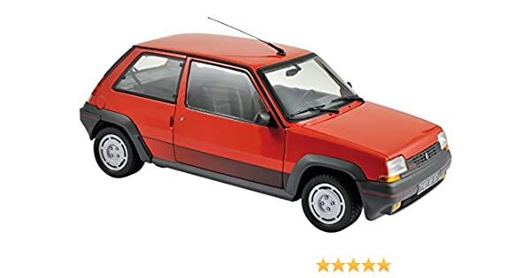 Amazon.com: Renault 1986 Supercinq GT Turbo Red 1/18 by Norev 185208: Norev: Toys & Games