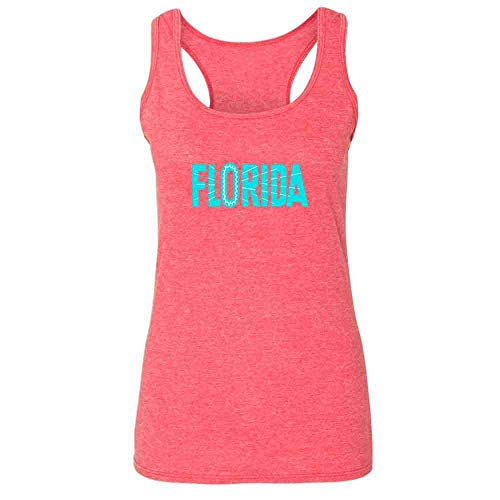 Florida State Retro Vintage Travel Heather Fuchsia S Womens Tank ()