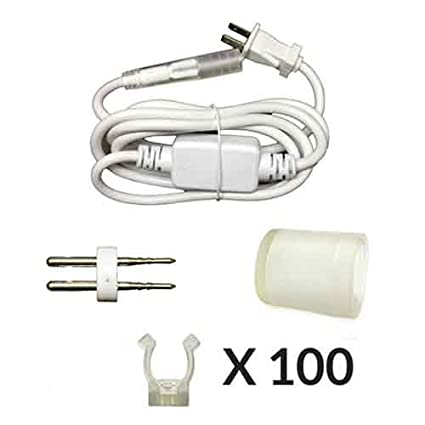 Deluxe RAP-A-KIT-JMX-DLX AQL 120V LED Rope Light Accessory Parts Kit