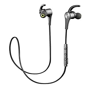 SoundPEATS Bluetooth Headphones Wireless Earbuds Magnetic Bluetooth Earbuds Sweatproof APTX Stereo Bluetooth Earphones with Mic for Sports(V4.1, 6 Hours Play Time, Secure Fit Design, Noise cancelling)