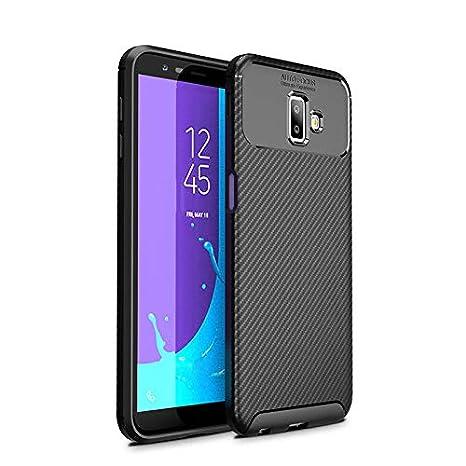 BELLA BEAR Funda para Samsung Galaxy J6 Plus,Silicona Material Blando A Prueba de choques Carcasa de Telefono Cover for Samsung Galaxy J6 Plus(Negro)