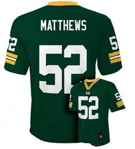brand new 6ed61 4c314 Outerstuff Clay Matthews Green Bay Packers #52 NFL Youth Green Jersey  (Youth Small 8)