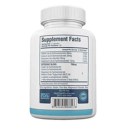 Trim Pill Keto Advanced Diet Formula - BHB Carb Blocker Supplements - 100% Natural - 30 Day Supply - 60 Capsules (1 Month Supply) by Trim Pill Keto (Image #1)