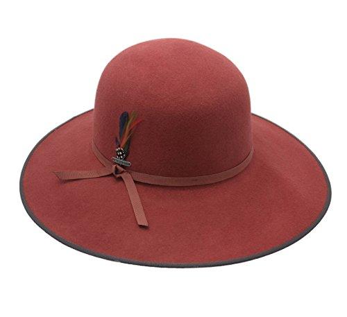 Stetson Women's Vermont Vitafelt Wool Felt Floppy Hat Size M Rouille-85 by Stetson